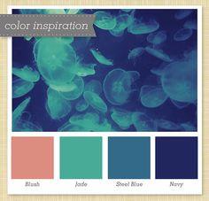 blush / jade / steel blue / navy | Flickr - Photo Sharing!