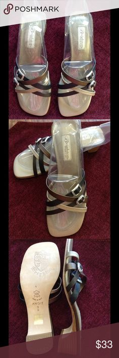 Hold Brighton Angie Sandals  Size 9 Brighton Angie Sandals. Size 9N. Worn 1 time, mostly indoors. Very nice condition!  Black, Tan and Bronze.  Non smoking, pet free home. 9 N Brighton Shoes Sandals