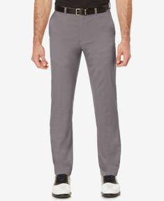 Pga Tour Men's Flat-Front Golf Pants - Blue 42x32
