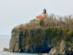 Split Rock Lighthouse from the Gold Rock Point. /. Lake Superior