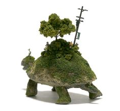 SEKAI, Surreal Sculptures of Tiny Worlds on the Backs of Animals