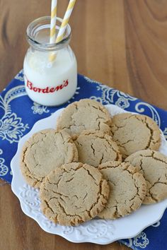 Chewy Peanut Butter Cookies from @glorioustreats