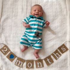 Baby Monthly Milestone Banner, Baby's First Year, Month by Month