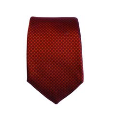 Denisonboston Checker Red Tie