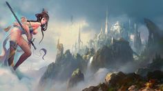 women paintings video games landscapes cityscapes fantasy art citadel drawings anime girls swords _www.wallmay.net_3.jpg 800×450 pixels