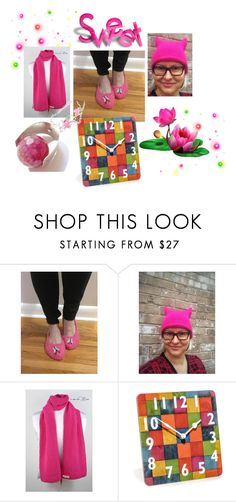 """""""Pink is Sweet"""" by cozeequilts ❤ liked on Polyvore"""