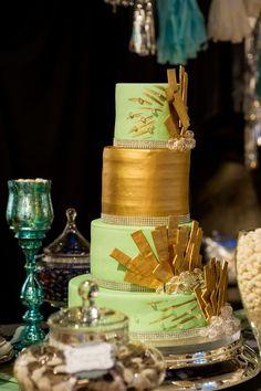 Art Deco Wedding Cake   Reign Magazine