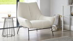 The Canio occasional white leather armchair will bring the wow-factor to your living room. This leather chair sits on sleek, chrome legs. Browse Danetti here. Industrial Dining Chairs, Leather Dining Room Chairs, Living Room Chairs, Leather Chairs, White Bedroom Chair, White Armchair, Living Room 2017, Navy Blue Living Room, Contemporary Armchair