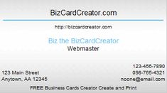 Business Card Style 14 | BizCardCreator Business Card Creator, Free Business Cards, Money Software, The Creator, Style, Swag, Outfits