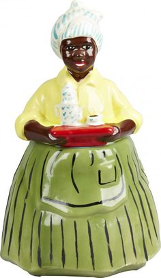 "Black Americana ""Luzianne Mammy"" Ceramic Cookie Jar Antique Cookie Jars, Ceramic Cookie Jar, Snack Jars, Pottery Pots, Vintage Cookies, Biscuit Cookies, Chocolate Pots, Antique China, Decoration"