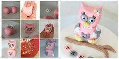Fondant OWL Tutorial - by Thecakeaddict @ CakesDecor.com - cake decorating website