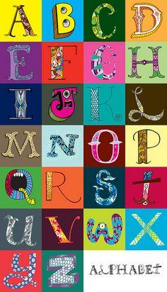 Typography Alphabet :: Hand Drawn Alphabet by Chris Piascik