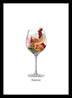 Quadro Poster Vinhos e Sabores RieA8slaner - Decor10