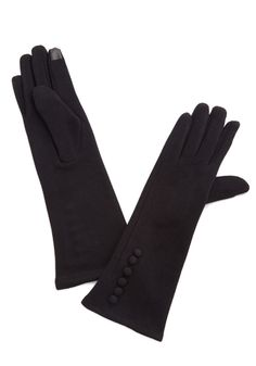 Fashionably Jubilate Gloves. Make an elegant entrance into any event in these posh black gloves! #black #modcloth