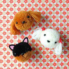 Dog Crafts, Animal Crafts, Crafts To Do, Yarn Crafts, Felt Crafts, Crafts For Kids, Paper Crafts, Pom Pom Animals, Pom Dog