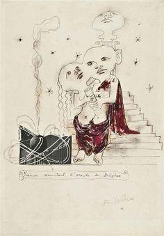 FIANCÉS CONSULTANT L'ORACLE DE DELPHES By Jean Cocteau
