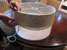 It took 1 1/2 spools of the rope to complete the lampshade.