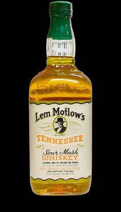 Lem Motlow's Tennessee Sour Mash Whiskey Scotch Whiskey, Bourbon Whiskey, Whisky, Tequila, Vodka, Jack Daniel's Tennessee Whiskey, Peach Drinks, Jack Daniels Bottle, Jack Daniels Distillery