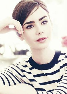 Lily Collins PERFECTION she looks like Audrey Hepburn