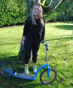 Em Bell adventure girl! loving her SwiftyONE. www.swiftyscooters.com