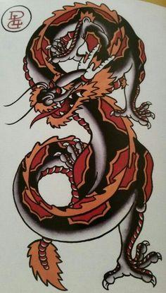 Old school dragon tattoos cerca con google dragon pinterest traditionalold school tattoo jeromey tilt mcculloch dragon japanese maxwellsz
