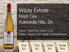 Wicks Estate Pinot Gris Adelaide Hills