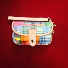 """☀️⤵️Vintage Dooney & Bourke Wristlet. Vintage Dooney & Bourke Wristlet, """"Plaid Picnic"""" Condition ✨Like New✨,Great for on the Go Style!! Dooney & Bourke Bags"""