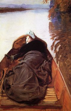 Autumn on the River (also known as Miss Violet Sargent) 1889. John Singer Sargent