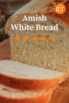I used AP flour, so it was a little crumbly, but still works for sandwiches! White Flour Bread Recipe, Best White Bread Recipe, Amish Sweet Bread Recipe, Amish Bread Recipes, Amish White Bread, Banana Bread Recipes, Holiday Recipes, Good Food, Favorite Recipes