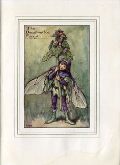 Deadnettle Flower Fairy Vintage Print, c.1927 Cicely Mary Barker Book Plate Illustration by TheOldMapShop on Etsy