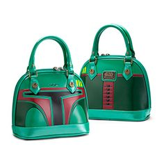 Styled like Boba Fett, this purse from Loungefly is guaranteed to be a hit at the box office or wherever you find your Star Wars friends. It's SHINY, in both the Firefly sense and the literal sense, made from faux patent leather.