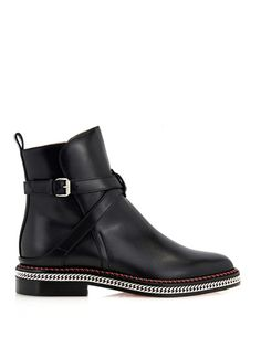 Chain leather chelsea boots | Christian Louboutin | MATCHESFAS... $1537