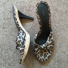 FIONI CHEETAH HEELS Like new condition, don't look like they've ever been worn. Heel measures 3 inches. BUNDLE to make a complete outfit & save 20%  FIONI Clothing Shoes Heels