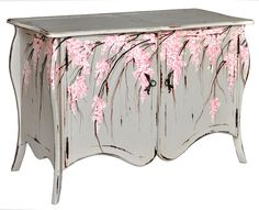 Large Brussels Sideboard. Customize items with any of our wide range of finishes, colors, and hand painted artwork. Any item can be painted in over million ways enabling items to be truly unique. The possibility are nearly endless and include stained, distressed, textured, antiqued, weathered and metallic finishes. In addition, artwork is available on most items. Items can be customized with any of our hand painted designs.#StevenShell