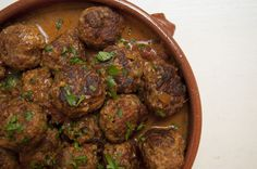 Hungarian Meatballs -- in a spicy sauce full of paprika, mushrooms and rosemary. Hungarian Cuisine, Hungarian Recipes, Hungarian Food, Meatball Recipes, Pork Recipes, Cooking Recipes, Recipies, Goulash Recipes, Spicy Sauce