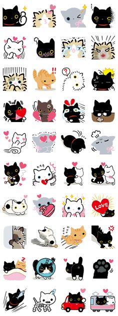 Kutsushita Nyanko: Lots of Love – LINE stickers Kawaii Stickers, Cute Stickers, Crazy Cat Lady, Crazy Cats, Bullet Journal Décoration, I Love Cats, Cute Cats, Doodles Kawaii, Chibi
