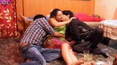 BHABI ENJOYING WITH TWO GUYS    HOT HINDI SHORT FILM/MOVIES  2015