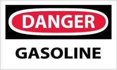 DANGER, GASOLINE, 3X5, STICKER, 5-PACK