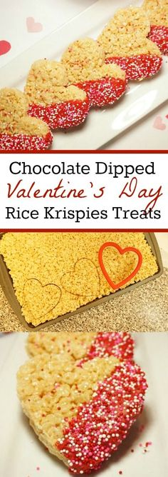Valentines Day Treats - How to make Chocolate Dipped Rice Krispies Treat Hearts