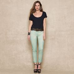 Courtland Cropped Skinny Jean - Blue Label   Women - RalphLauren.com