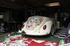 DIY Stickerbomb'd VW Beetle.  (God my hands are soooo tired!!)