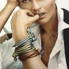 Helena Christensen for Ole Lynggaard Bespoke Jewellery, Latest Jewellery, Fashion Accessories, Fashion Jewelry, Helena Christensen, Layered Jewelry, Charlotte, Jewelry Trends, Personalized Jewelry