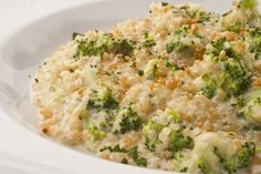 Quinoa risotto with broccoli Quinoa Recipes Easy, Light Recipes, Veggie Recipes, Low Carb Recipes, Vegetarian Recipes, Healthy Recipes, Salmon Recipes, Quinoa Side Dish, Comidas Light