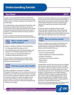 understanding suicide fact sheet