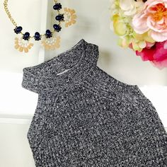 Charcoal grey knit dress Charcoal grey knit dress by Tea and Cup. Size S/M - 60% cotton 40% Acrylic. Nice and fitted! Tea and Cup Dresses Mini