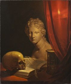 A Vanitas Still Life Skull. Baroque Painting, Baroque Art, Vanitas Paintings, Vanitas Vanitatum, Classic Paintings, Still Life Art, Still Life Photography, Aesthetic Art, Dark Art