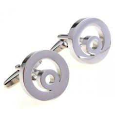 Perfect love circle silver romance modelling plating steel Cufflinks