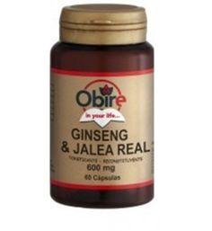 60 cápsulas de Ginseng y Jalea Real 600mg. Tonificante y reconstituyente.  Es energético y estimulante. Mejora el sistema inmunológico. Ofrece mayor resistencia mental en periodos de estrés o fatiga. Tiene propiedades antidiabéticas. Afecciones gastrointestinales. Incrementa la capacidad de la mente. Disminuye el colesterol.