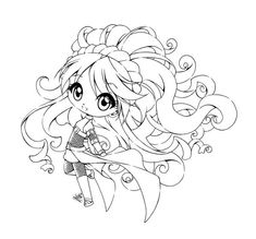 Original Drawing by OC Nebibi is owned by Original LineArt Nebibi 02 Colored Chibi Coloring Pages, Fairy Coloring, Cool Coloring Pages, Adult Coloring Pages, Coloring Books, Kids Coloring, Coloring Sheets, Anime Lineart, Creation Art