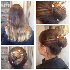 Hair by Liz Fanlo Makeup and Hair Bridal Hair Buns, Bun Hairstyles, Looks Great, Hair Accessories, Dreadlocks, Ear, Hair Styles, Makeup, Beauty